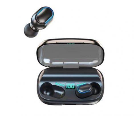 TWS 11 kijelzős Bluetooth füllhalgató fekete