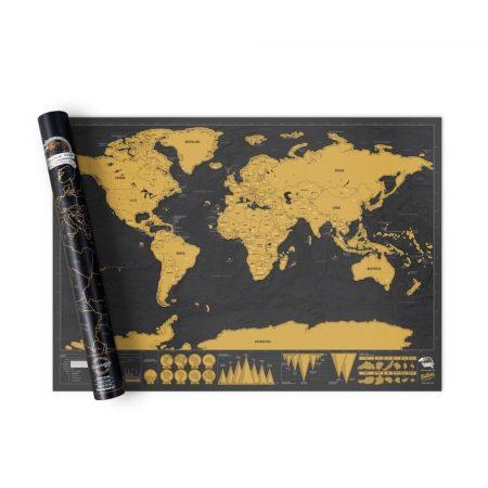 Kaparós világtérkép, utazós - Ajándékozz ilyen kaparós térképet és inspiráld szeretted a világ felfedezésére!