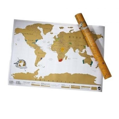 Scratch world map, premium