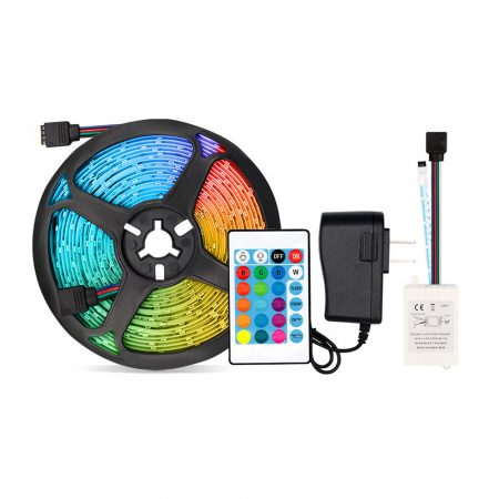5meter RGB led tape, with remote control +power