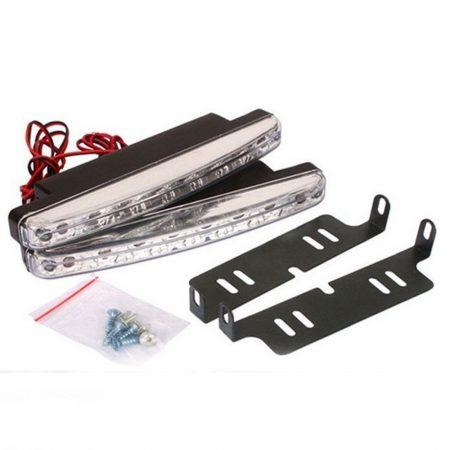 autós nappali menetfény 8 ledes - Dekoratív extra világítás bárhova, könnyen felszerelhető, ütés és vízálló.