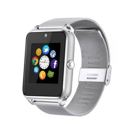 AlphaOne - strieborný kovový náramok Smart hodinky, vstavaný fotoaparát