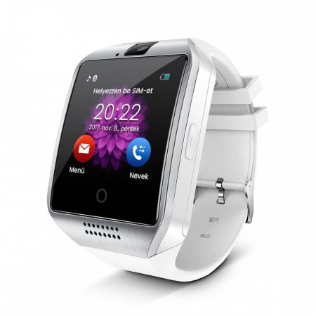 Curved Display Smart Watch Silver-White Q18