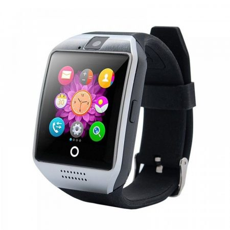 Curved Display Smart Watch Silver-Black Q18