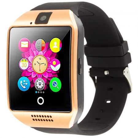 Curved Display Smart Watch Gold-Black Q18