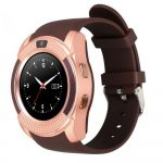 V8 smart watch gold-brown