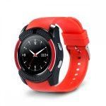 Bass V8 okos óra piros -Sport funkció,sim foglalat,kamera, android és ios telefonokra egyaránt.