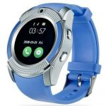 V8 smart watch blue
