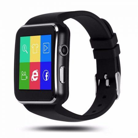 x6 smart watch black