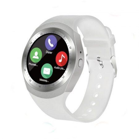 AlphaOne Y1 Okos óra fehér - érintőkijelző,értesítések,hívások,lépésszámláló