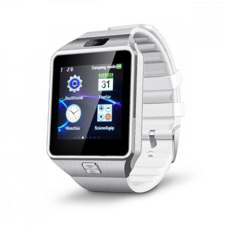 AlphaOne M8 prémium okosóra ezüst fehér - Fotózz és telefonálj a telefonod nélkül egyszerűen.