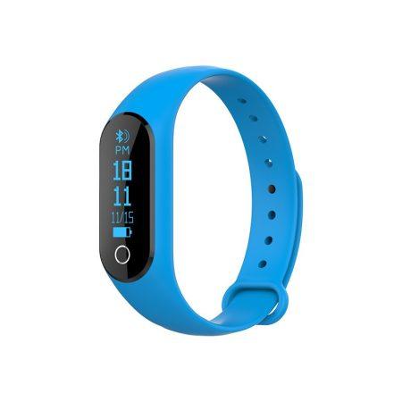 m2S Okos karkötő kék - Pulzusmérős aktivitás mérő androidra és IOS-ra.