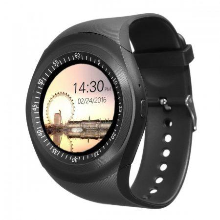 AlphaOne Y1 smart hodinky, čierne