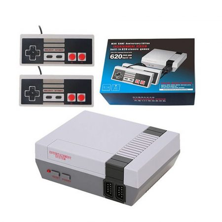 Retro Gaming Console with 620 built-in games and 2 remote controls