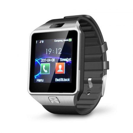 AlphaOne DZ sivé-čierné smart hodinky,