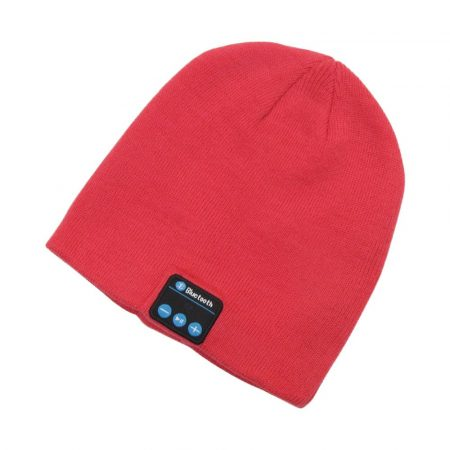 Red bluetooth hat