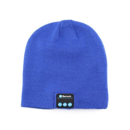 Blue bluetooth hat