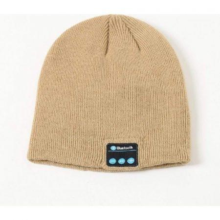 Brown bluetooth hat