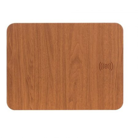 wooden mousepad with  qi charger
