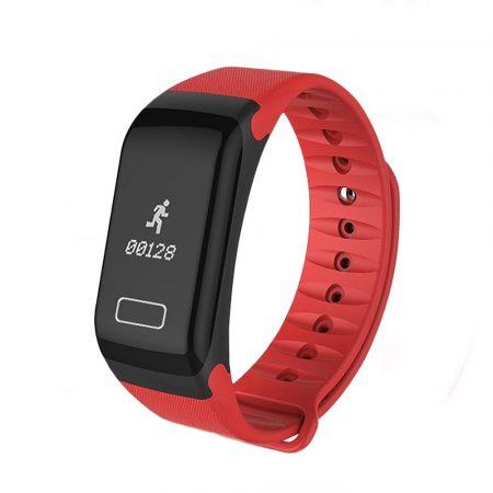 F1 Okos Karkötő piros - Fitness funkciók,lopás elleni védelem,android és ios kapcsolat egyaránt.