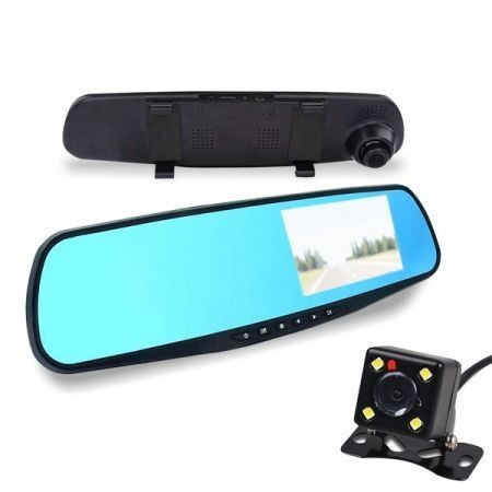 Touch Mirror Reversing and Event Recording Camera - 2 IN 1