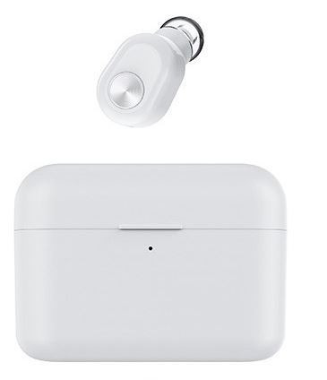Wireless Pluggy earphone -white- with powerbank