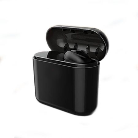 Wireless Pluggy earphone -black- with powerbank