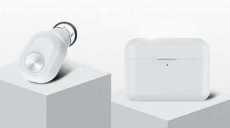 Wireless Manager earphone-white- + 1200 Mah powerbank