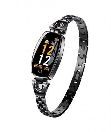 Luxardo Női okosóra (H8) Fekete -Igazán csajos óra vékony fémszíjjal,hogy sportolás közben is nőies lehess.