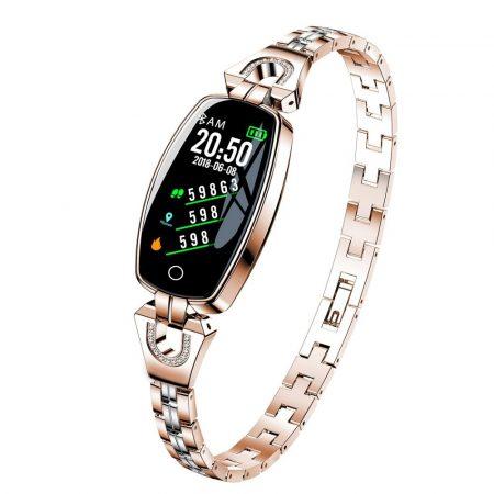 Luxardo Női okosóra (H8) Arany - Igazán csajos óra vékony fémszíjjal,hogy sportolás közben is nőies lehess.