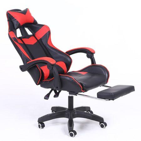 RACING PRO X Gamer szék lábtartóval, piros-fekete Ingyenes szállítással-Sokat vagy fent a neten? Vége az elgémberedett ízületeknek.