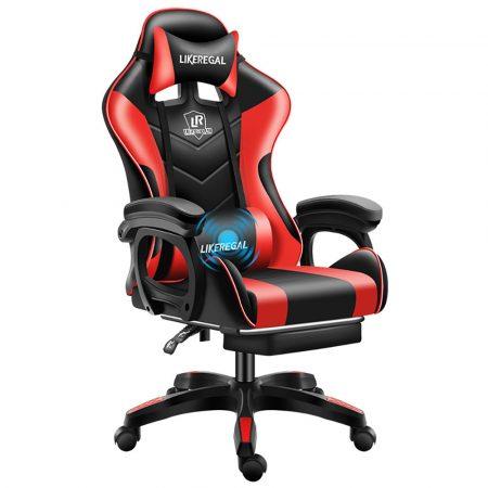 Likeregal 920 masszázs gamer szék lábtartóval piros