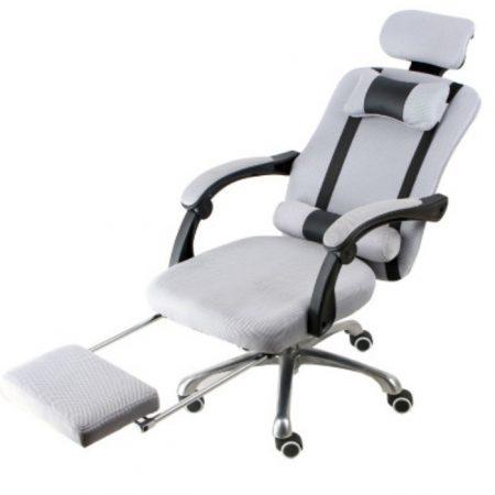Elnöki forgószék Lábtartóval Ingyenes szállítással, szürke -Kényelem és komfort,ergonomikus kialakítás!