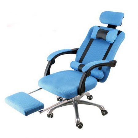 Elnöki forgószék lábtartóval Ingyenes szállítással, kék -Kényelem és komfort,ergonomikus kialakítás!