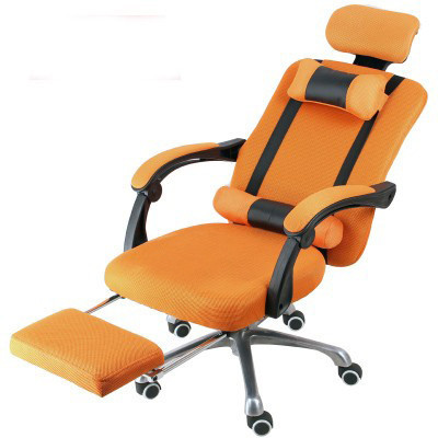 Elnöki forgószék lábtartóval , Narancs szín