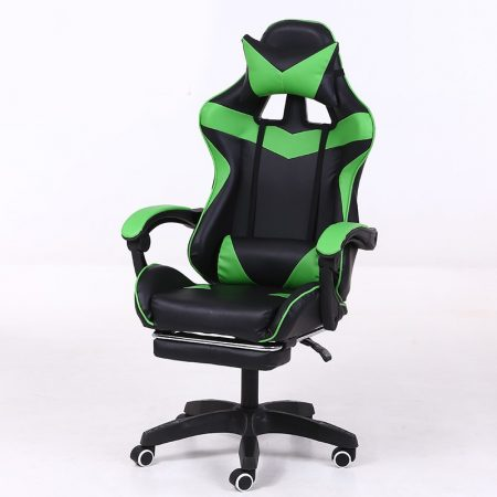 RACING PRO X Gamer szék lábtartóval, Zöld-fekete