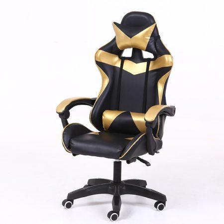 RACING PRO X Gamer szék , Arany-Fekete Ingyenes szállítással-Sokat vagy fent a neten? Vége az elgémberedett ízületeknek.