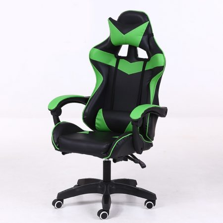 RACING PRO X Gamer szék , Zöld-Fekete Ingyenes szállítással-Sokat vagy fent a neten? Vége az elgémberedett ízületeknek.