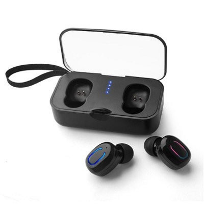 AlphaOne T18S earphones with docking station