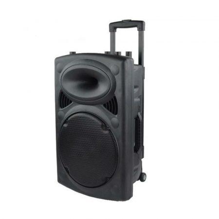 AlphaOne P12 Professzionális Akkumulátoros aktív Hangfal Ajándék vezeték nélküli mikrofonnal - Legyen tiéd a leghangosabb buli!