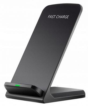 Asztali  vezeték nélküli telefon gyorstöltő és tartóállvány QI 10W
