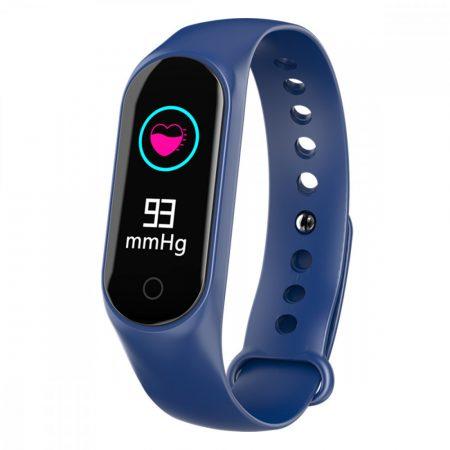 """M4 okoskarkötő Kék - Az """"M"""" termékcsalád legújabb tagja, az aktivitásmérésen kívül a telefonértesítéseket is jelzi."""
