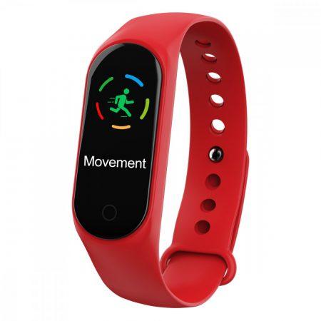 """M4 okoskarkötő piros - Az """"M"""" termékcsalád legújabb tagja, az aktivitásmérésen kívül a telefonértesítéseket is jelzi."""