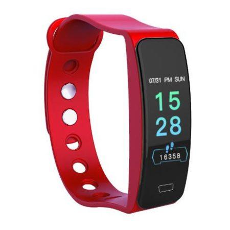 B1 piros okoskarkötő -Masszív de elegáns külső,egészségügyi monitorozás,értesítések,sportmód.