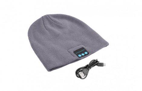 bluetooth hat grey