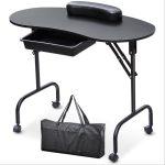 Hordozható manikűrös asztal-fekete