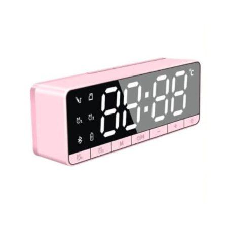 Bluetooth-os digitális ébresztőóra - pink