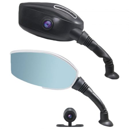 Visszapillantó tükörbe épített tolató és eseményrögzítő kamera motorra - 2 IN 1 - kényelem és biztonság a legalacsonyabb áron