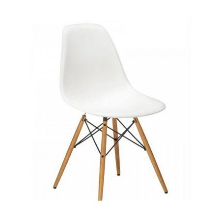 4 db modern szék konyha, nappali, étkező vagy kültéri használathoz-fehér