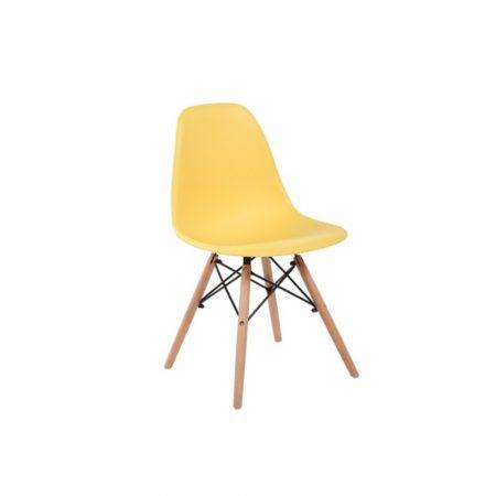 4 db modern szék konyha, nappali, étkező vagy kültéri használathoz-sárga